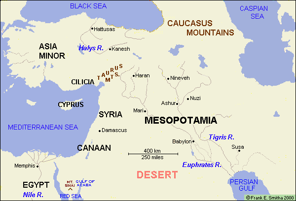 Map: The Middle East (West Asia) to 1200 BCE | Maps | Ancient ...