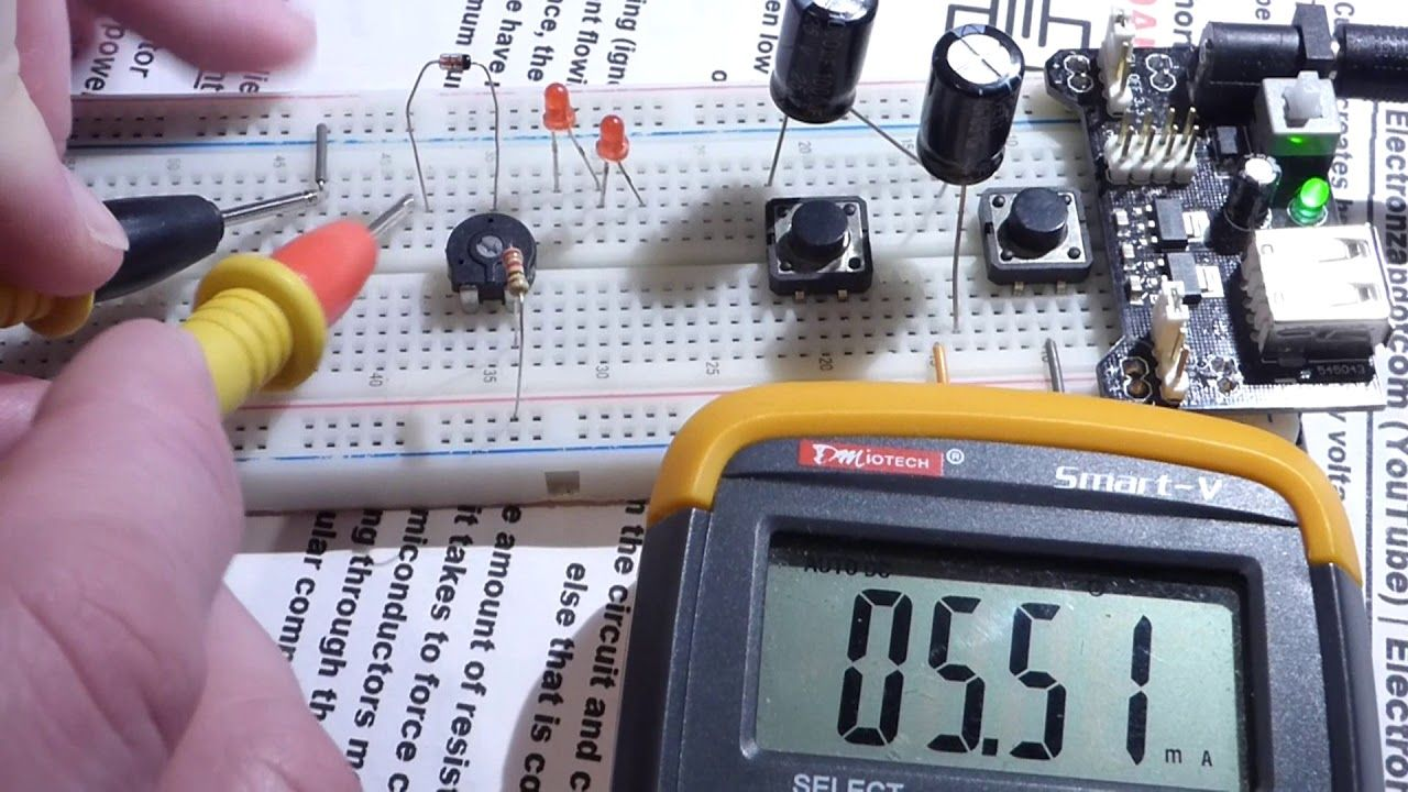 Testing Led Forward Voltage Drop Versus Zener Diode Reverse Simple Indicator By And