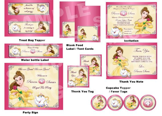 Beauty And The Beast Party Package Belle By StorybookLaneCrafts 2500