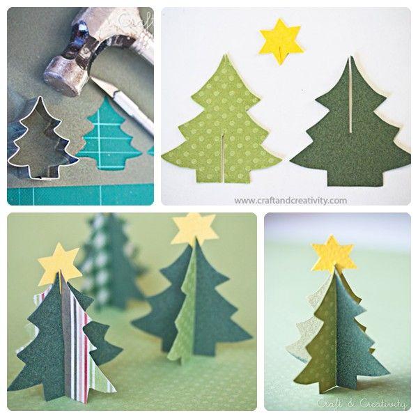 5 rboles de Navidad de papel fciles de hacer rboles de navidad