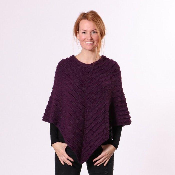 3cbef0567f9 Ellen Poncho fra | Gratis Strikkeopskrifter - Hobbii Design DK ...