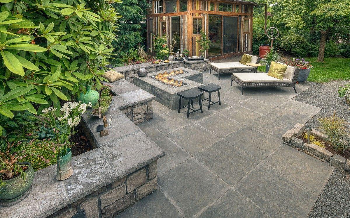 Simple Outdoor Fireplace Design | Patio design, Patio ... on Simple Outdoor Fireplace Ideas id=99226