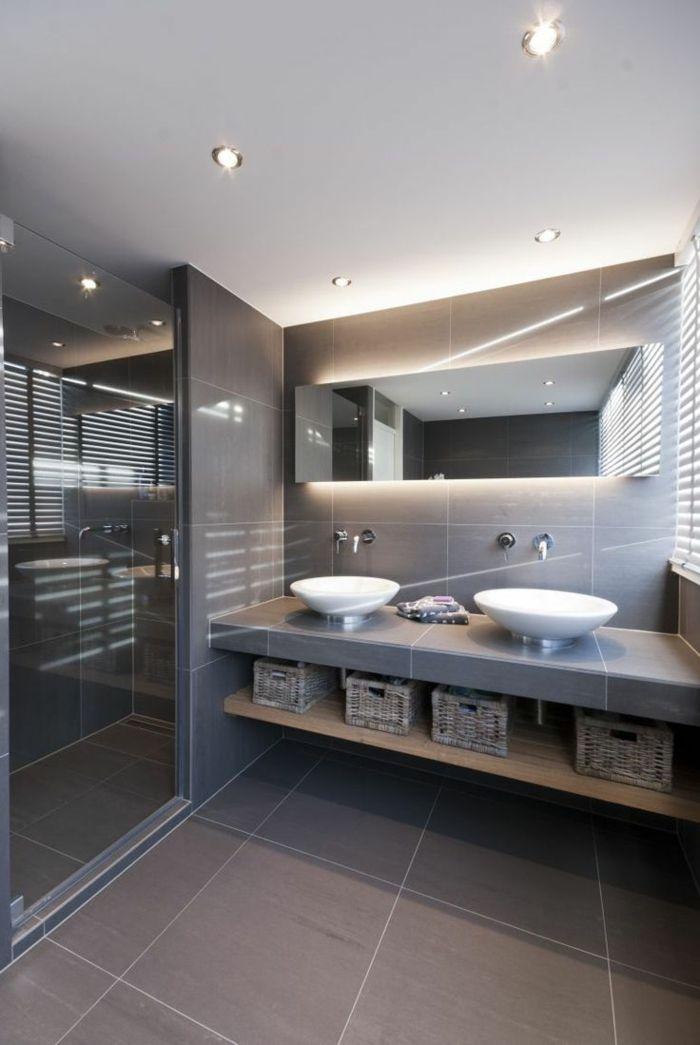 110 Moderne Bader Zum Erstaunen Archzine Net Badgestaltung Badezimmer Design Spiegel Mit Beleuchtung