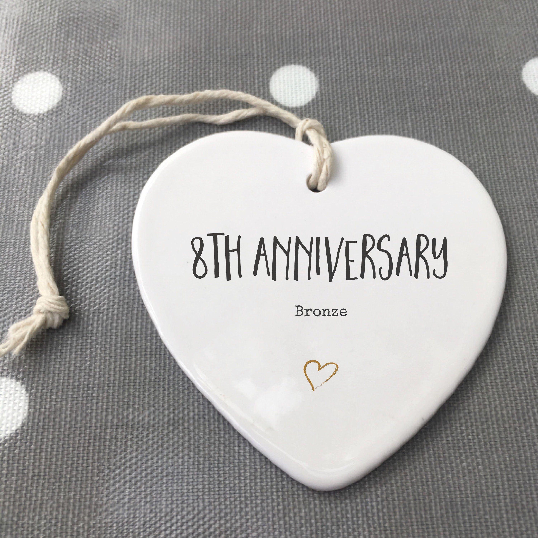 8th anniversary ceramic keepsake etsy in 2020 40th