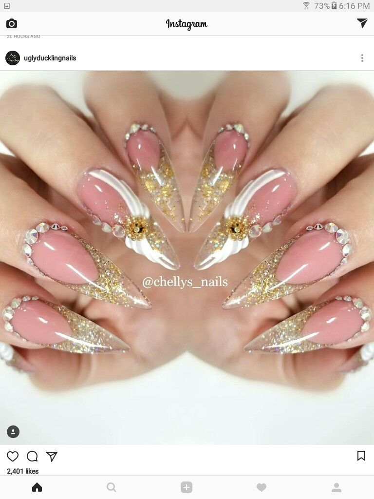 Pin by Me on Nails/Toes | Pinterest | Nails french design, Long ...