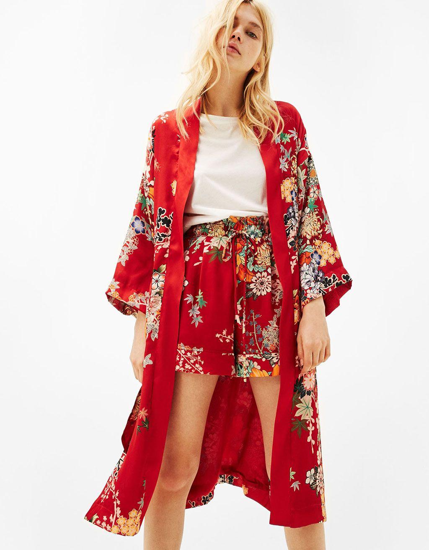 0af295f9df8d Kimono long imprimé oriental - Kimonos - Bershka France
