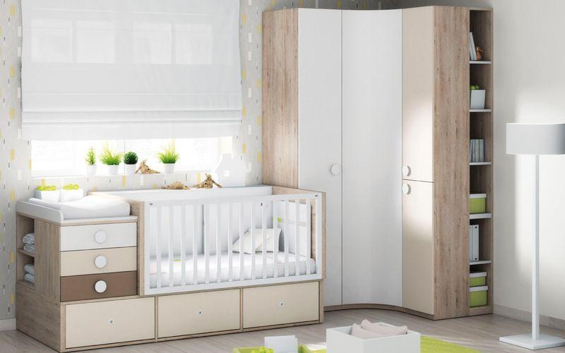Habitacion ros cuna cama sofa muebles practicos for Muebles infantiles ros