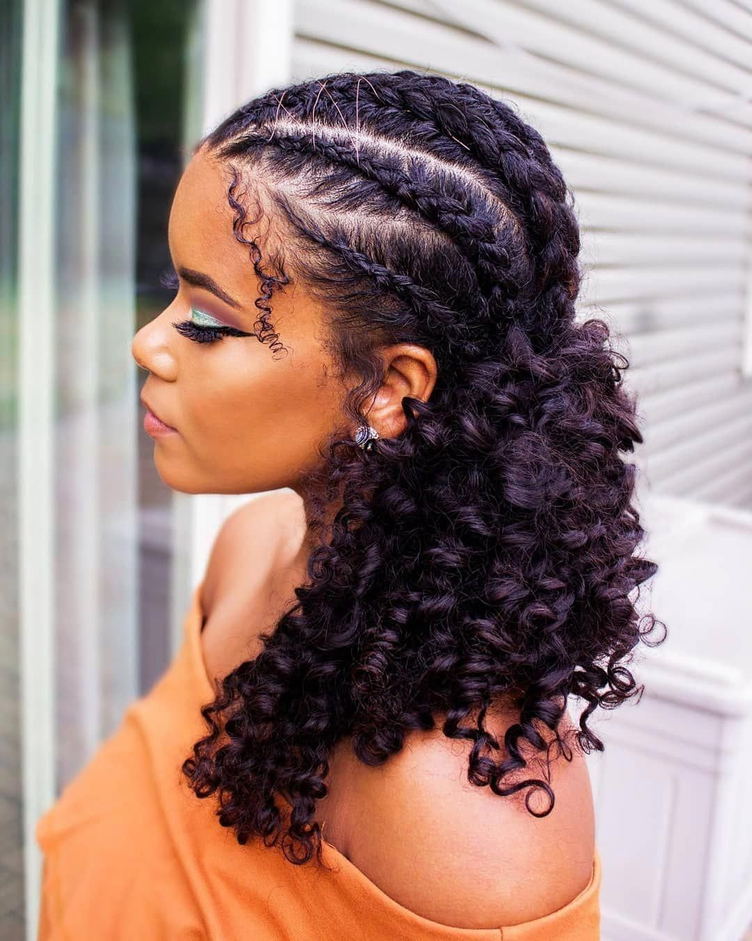 35 Natural Braided Hairstyles Without Weave Natural Braided Hairstyles Natural Hair Styles Braided Hairstyles