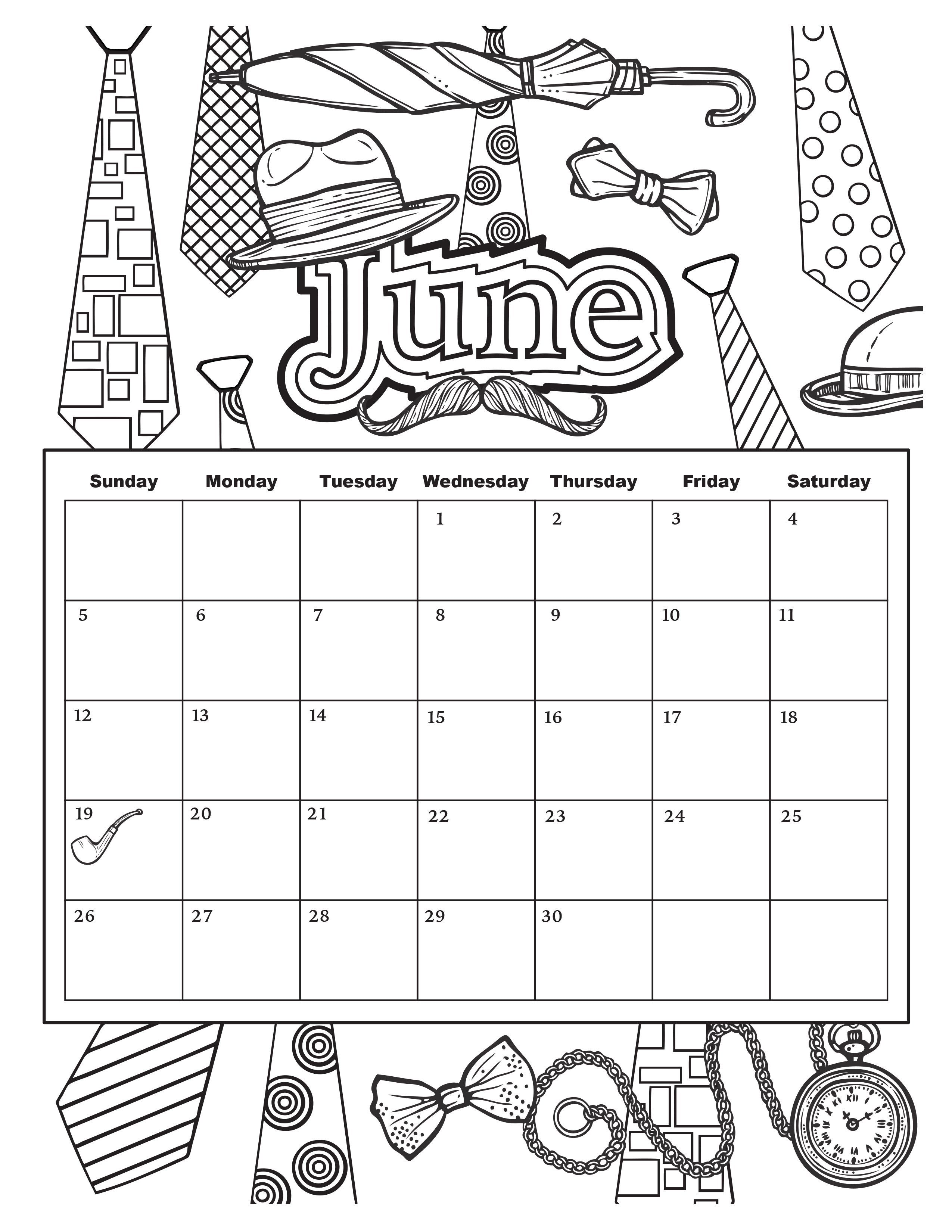 Free coloring pages for june - June Jpg 2550 3300