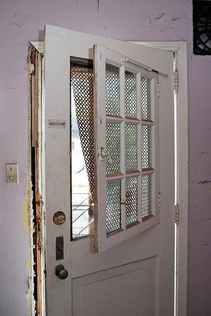 Kitchen Door Window Open