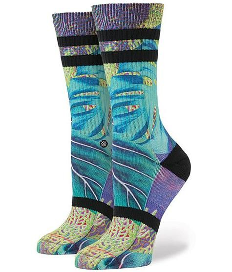 STANCE HERMOSA BLUE COLLECTION SOCKS CREW NEW WOMEN/'S M ANKLET 8-10.5