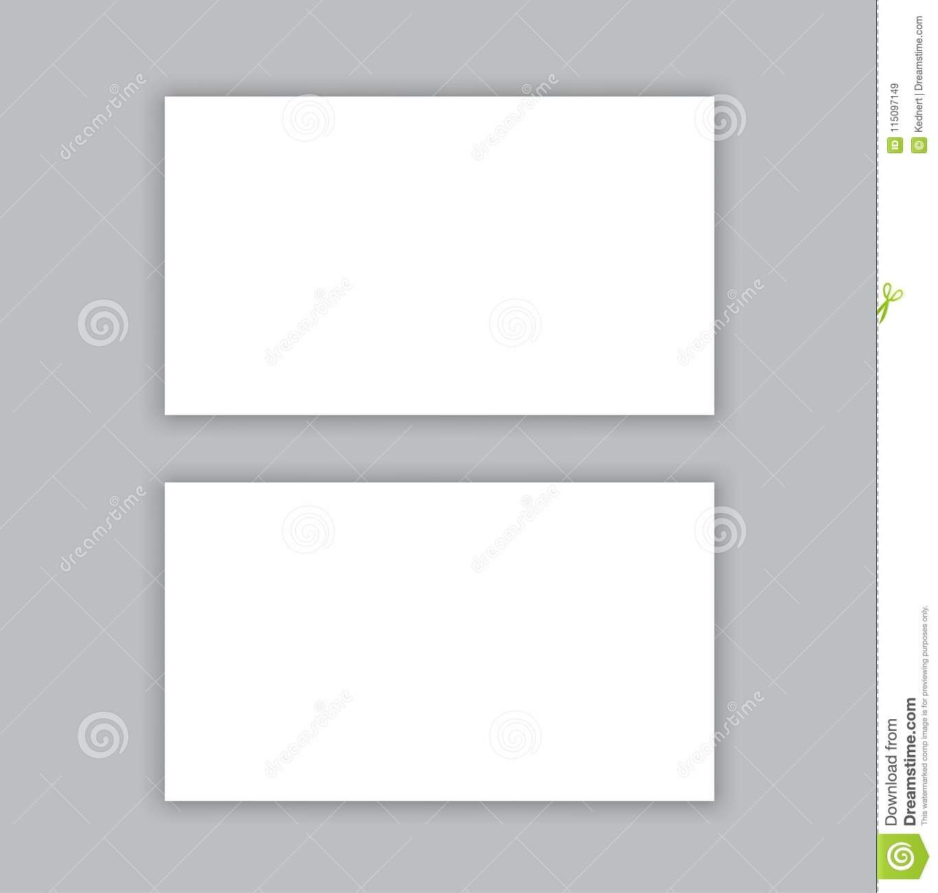 Blank Business Card With Shadow Mockup Cover Template Stock Throughout Plain Business Card Template Blank Business Cards Business Card Template Cover Template