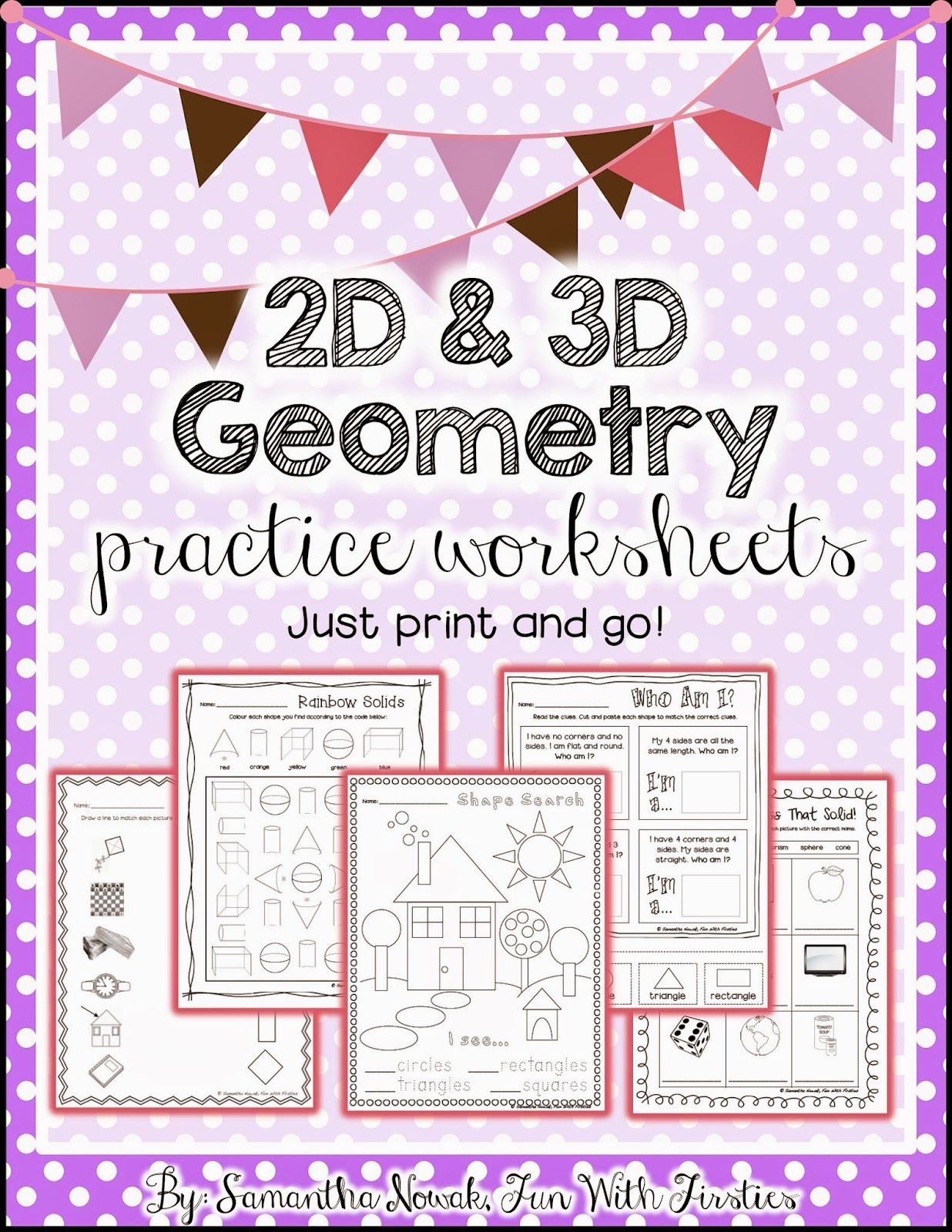 Print Amp Go 2d Amp 3d Geometry Practice Worksheets