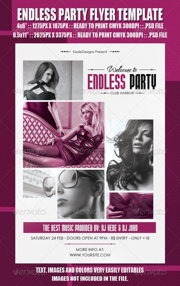 Endless Party Flyer Template Party Flyer Flyer Template And Event