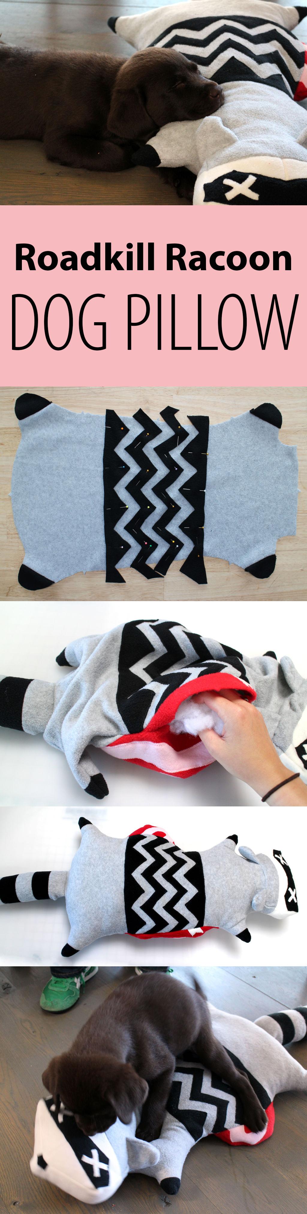 Roadkill raccoon dog pillow dog raccoons and pillows