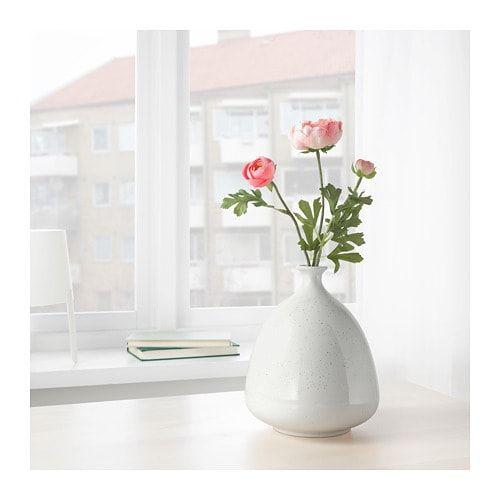 Ikea Livsverk White Vase Flowerpot In 2019 Vase Vases Decor Ikea