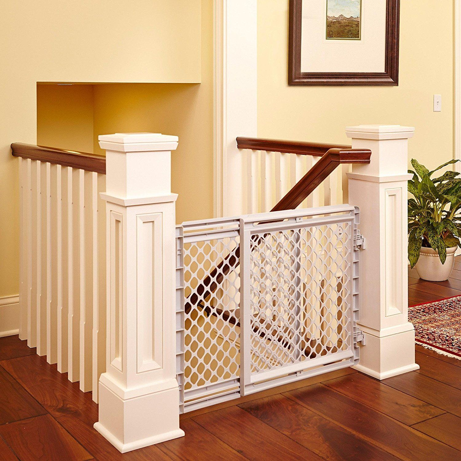 26' Safe Rounded Edges Children Protected Plastic Stairway Gate White Insider' Special