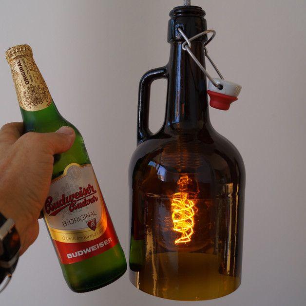"""Hängelampen - Vintage Flaschenlampe, Hängelampe """"3Liter"""" - ein Designerstück von Uniikat-Shop bei DaWanda"""