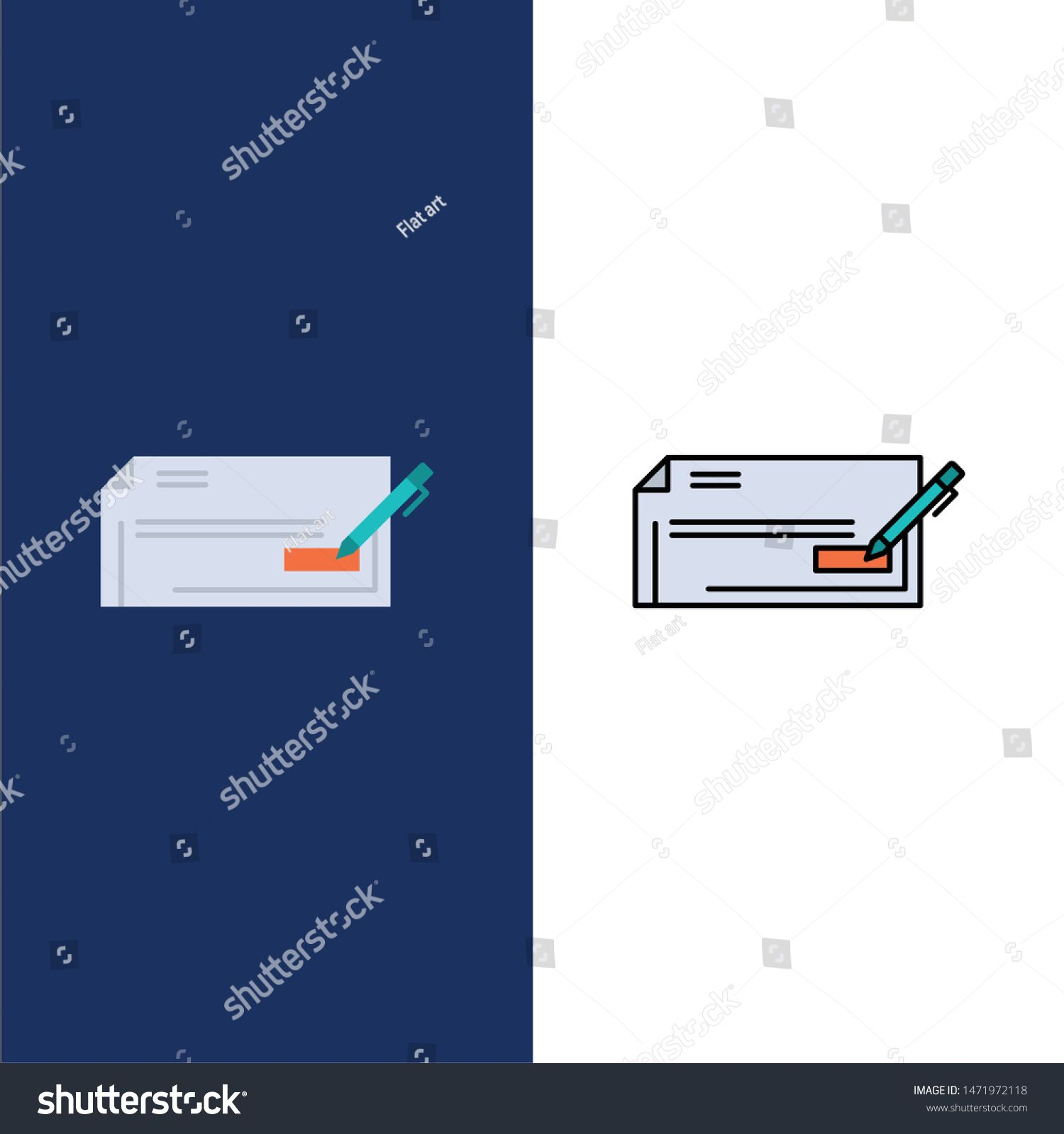 Check Bank Bank Check Business Finance Money Icons Flat And