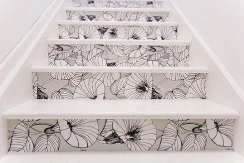 Escaliers  comment les transformer? Escaliers, Papier peint et - Comment Peindre Du Papier Peint
