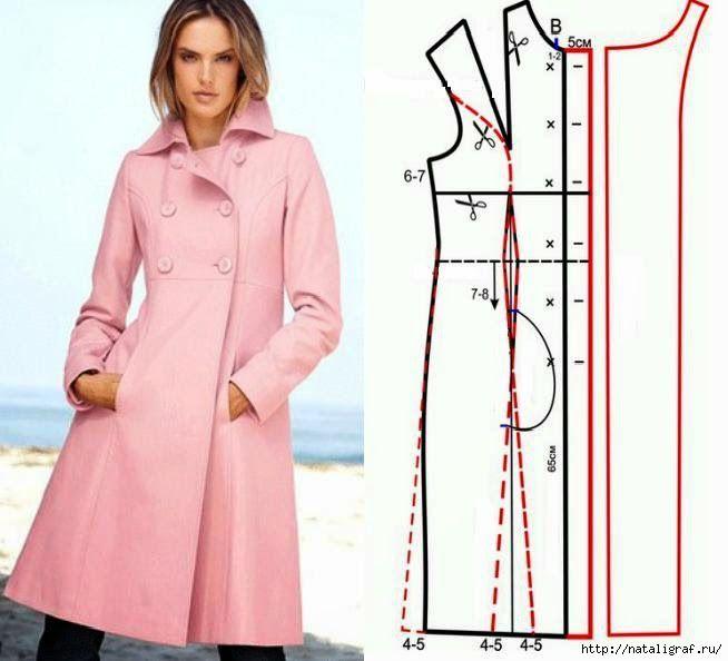 patrones para hacer elegantes abrigos y chaquetas Otoño requiere ...