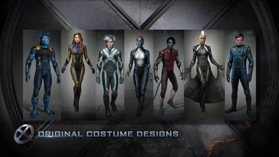 X Men Apocalypse Concept Art Shows Off The Mutants Final Costumes X Men Films X Men X Men Apocalypse Apocalypse Costume