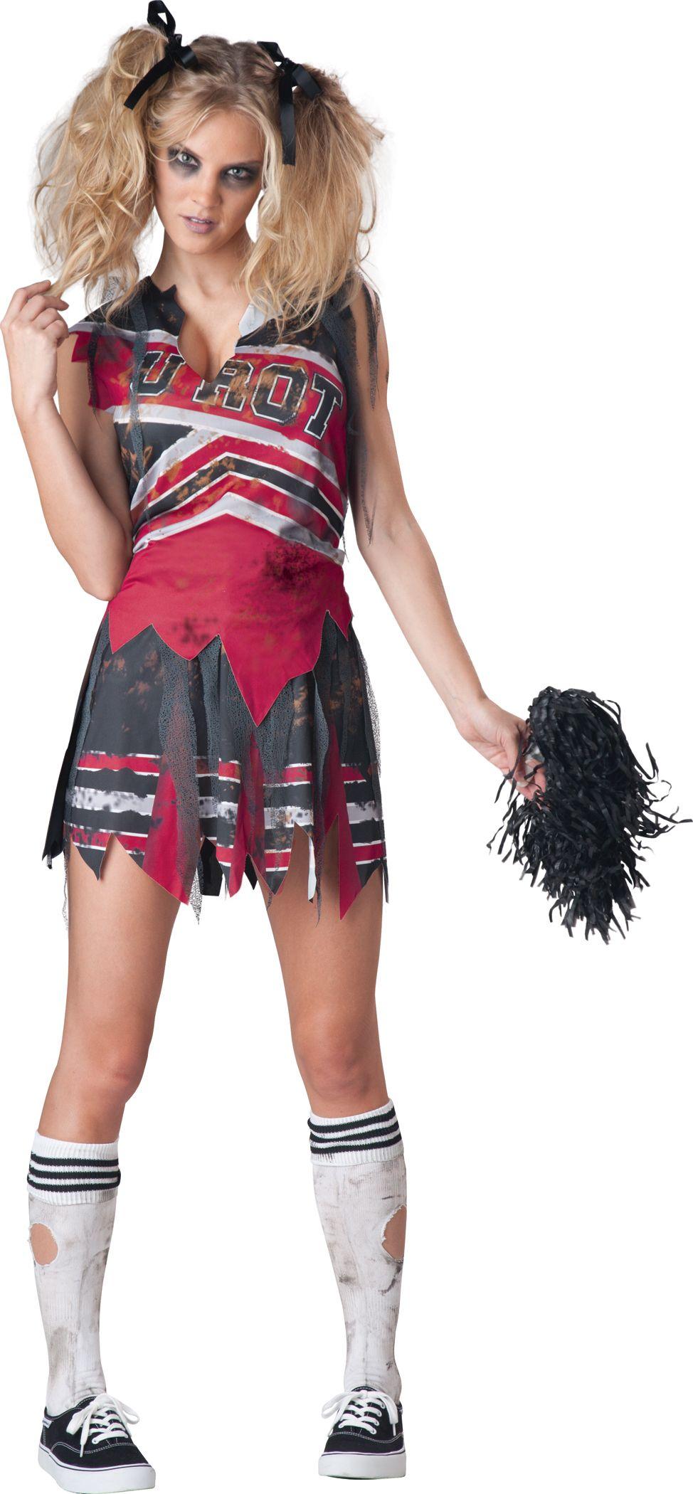 Zombie Cheerleader Costume Adult Halloween Fancy Dress