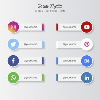 Download Social Media Lower Thirds For Free Social Media Icons Vector Vector Free Social Media Logos