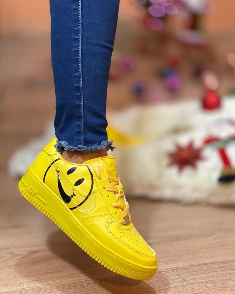 cangrejo trabajo duro Plasticidad  Nuevos Nike air force talla de la 35 a la 38!!!! . Medidas y talla #35 22cm  #36 23cm #37 24cm #38 25cm | Nike air force sneaker, Nike air force,  Sneakers nike