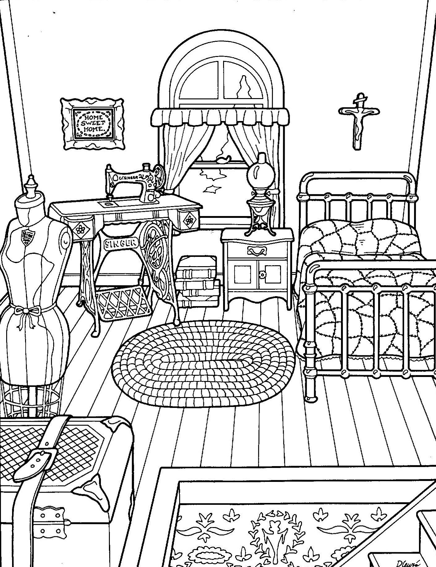 Printable coloring pages coloring pages for kids coloring books house colouring pages