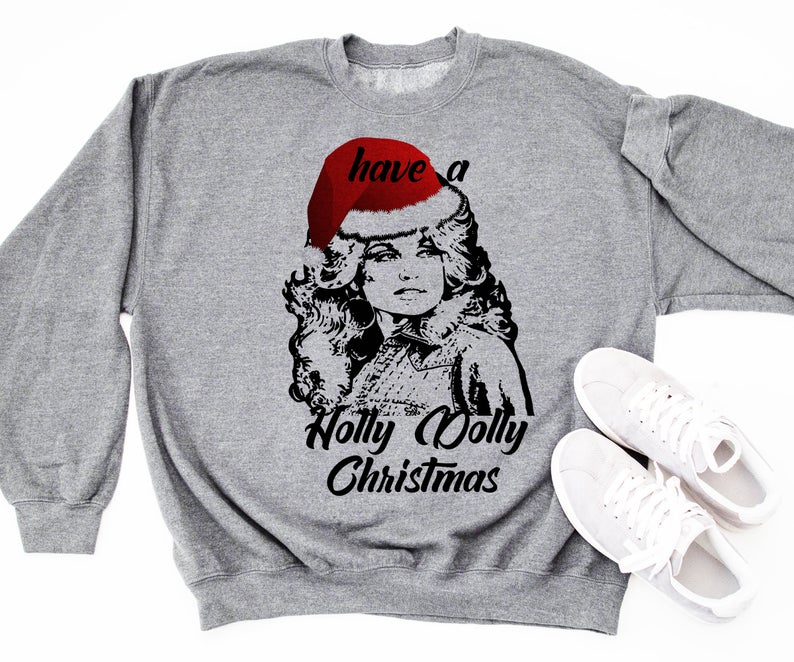 Holly Dolly Christmas Country Music Fan Holiday Christmas