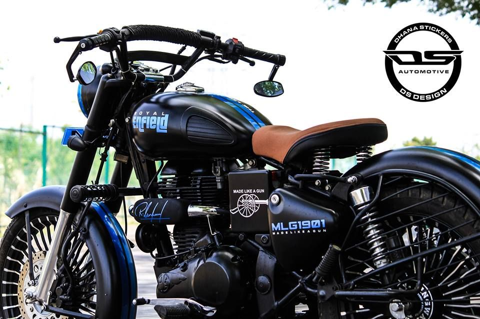 Royal Enfield Classic Modification Check Out This Cool - Classic motorcycle custom stickers