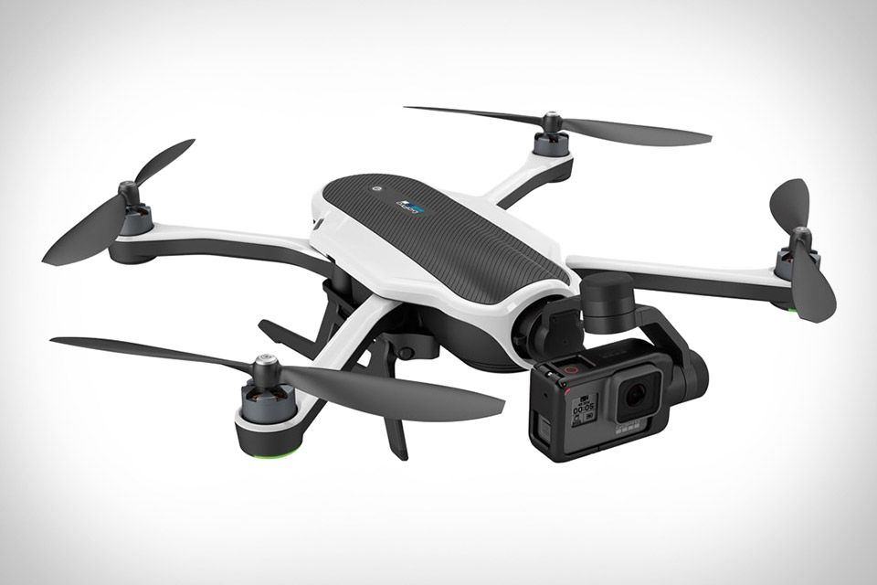 GoPro Karma Drone. More than a simple camera drone, the Karma is actually a series of separate accessories that work together to deliver great-looking aerial footage.