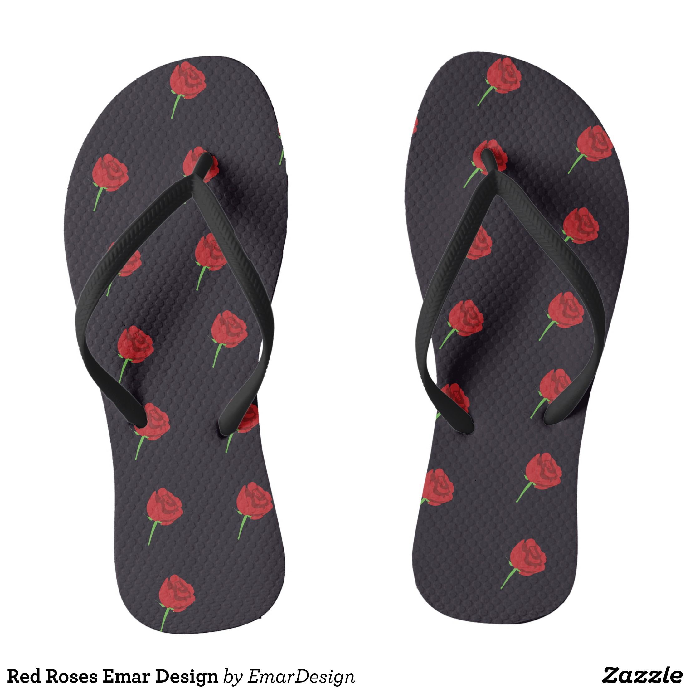 b78a28490fc67 Red Roses Emar Design Flip Flops - Canvas-Top Rubber-Sole Athletic Shoes By  Talented Fashion And Graphic Designers -  shoes  sneakers  footwear   mensfashion ...