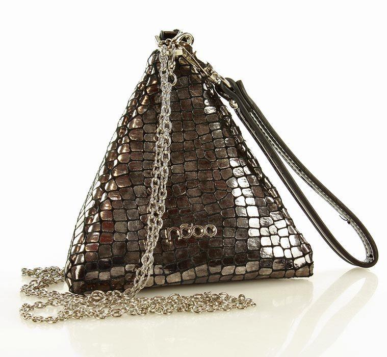 17x17cm Ekoskora 80zl Verostilo Nobo Torebka Wizytowa Kopertowka Piramidka Srebrny Bags Drawstring Backpack Backpacks