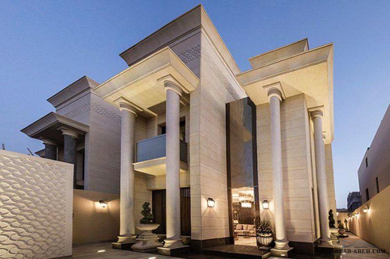 فله مودرن واجهه المخطط Facade House Modern Exterior House Designs Mediterranean House Designs