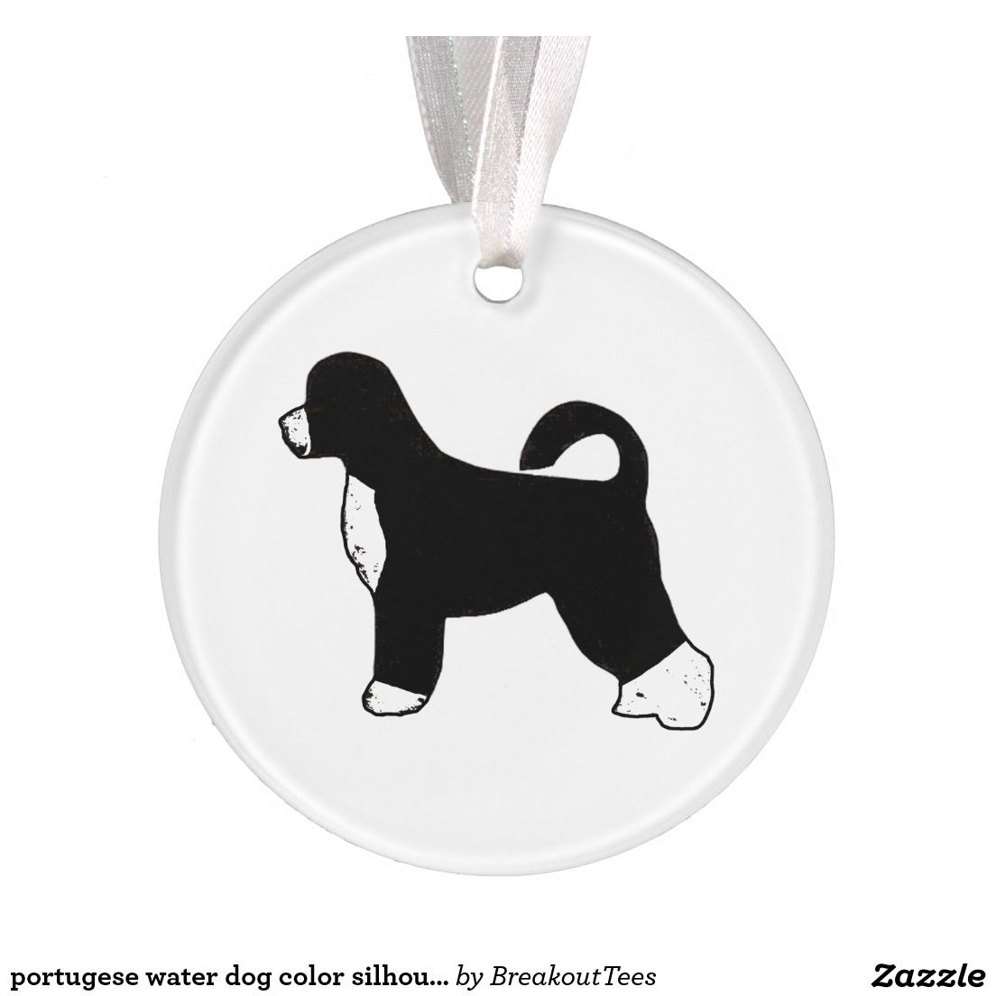 Portugese water dog color silhouette.png ornament | Pinterest | Dog ...