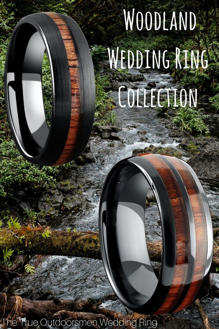 Wood Wedding Rings For the true outdoorsmen 100 waterproof and