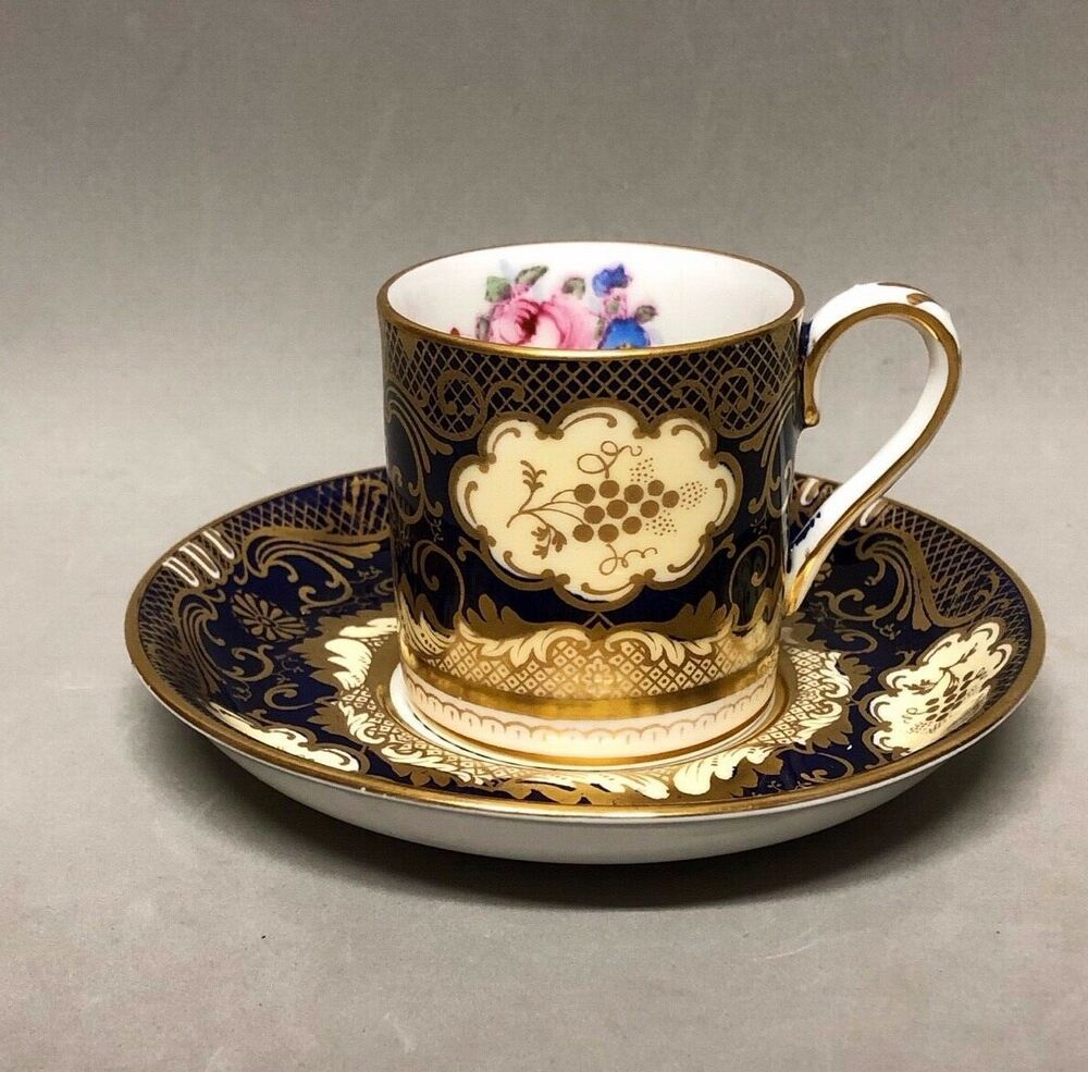 Vintage Fine Bone China Crown Staffordshire Demitasse Cup Amp Saucer Set England Crown