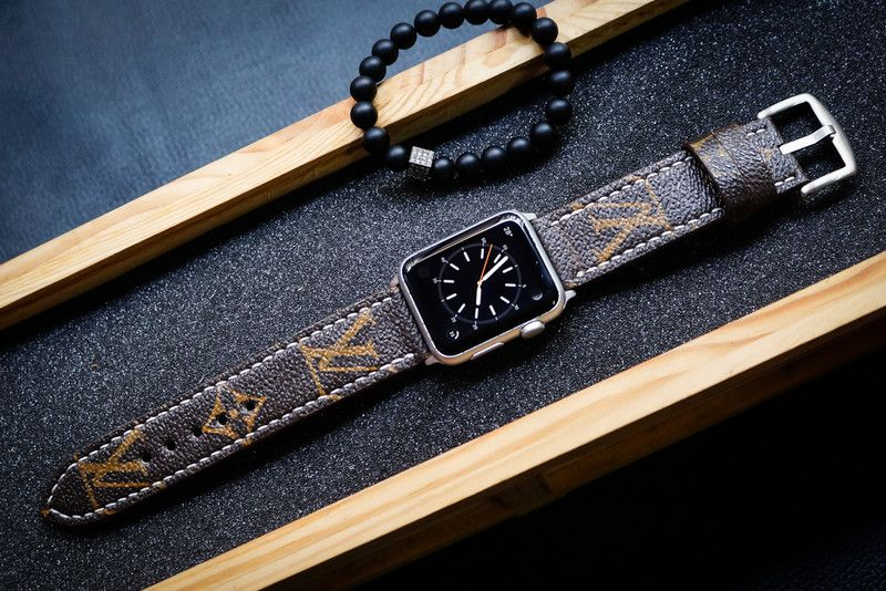Wrist Watches – Monogram Canvas LV Strap for Apple Watch – a unique product by LilyStewart on DaWanda