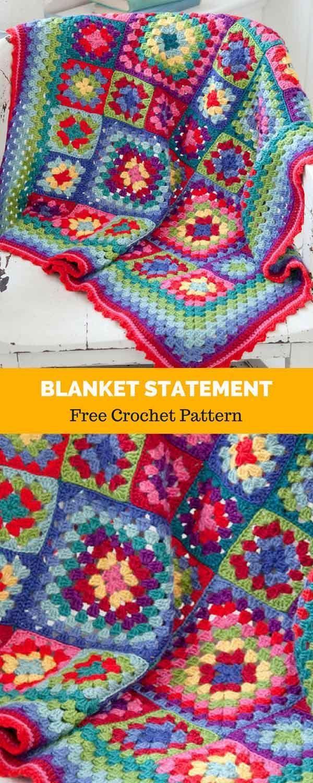 Blanket Statement [ FREE CROCHET PATTERN | Scrap yarn crochet ...