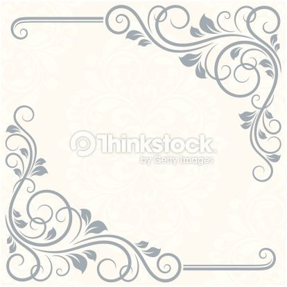 Floral Greeting Card Stencils Pinterest Borders And Frames