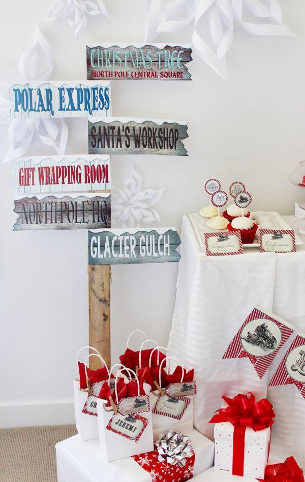Polar Express Sign Post Free Printable  Free printable Polar