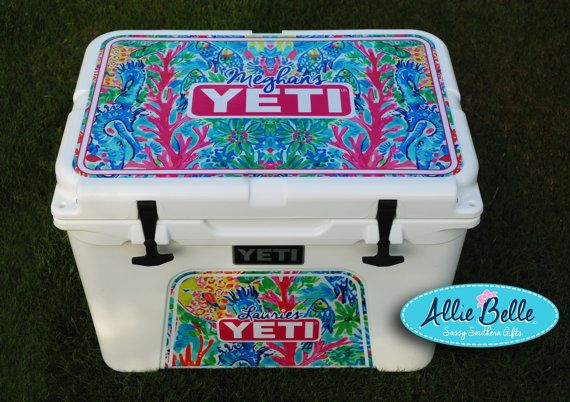 Yeti Roadie Ortundra Cooler Wrap Decal Custom Yeti Cooler 24 Alberta Lilly Custom Yeti Yeti Cooler Stickers Custom Yeti Coolers