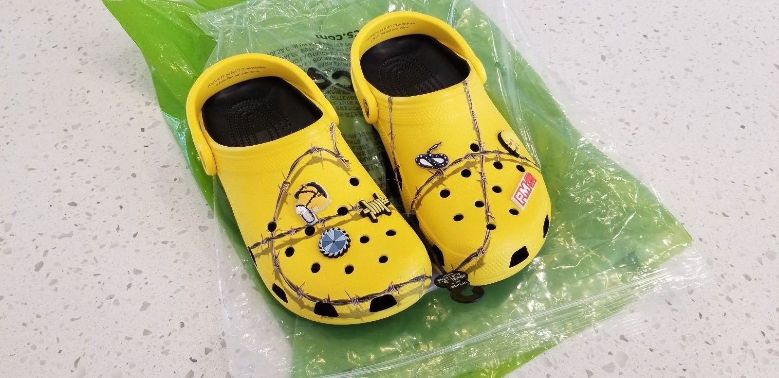 Post Malone Barbed Wire: Post Malone X Crocs Barbed Wire Clog (Limited Edition) *IN