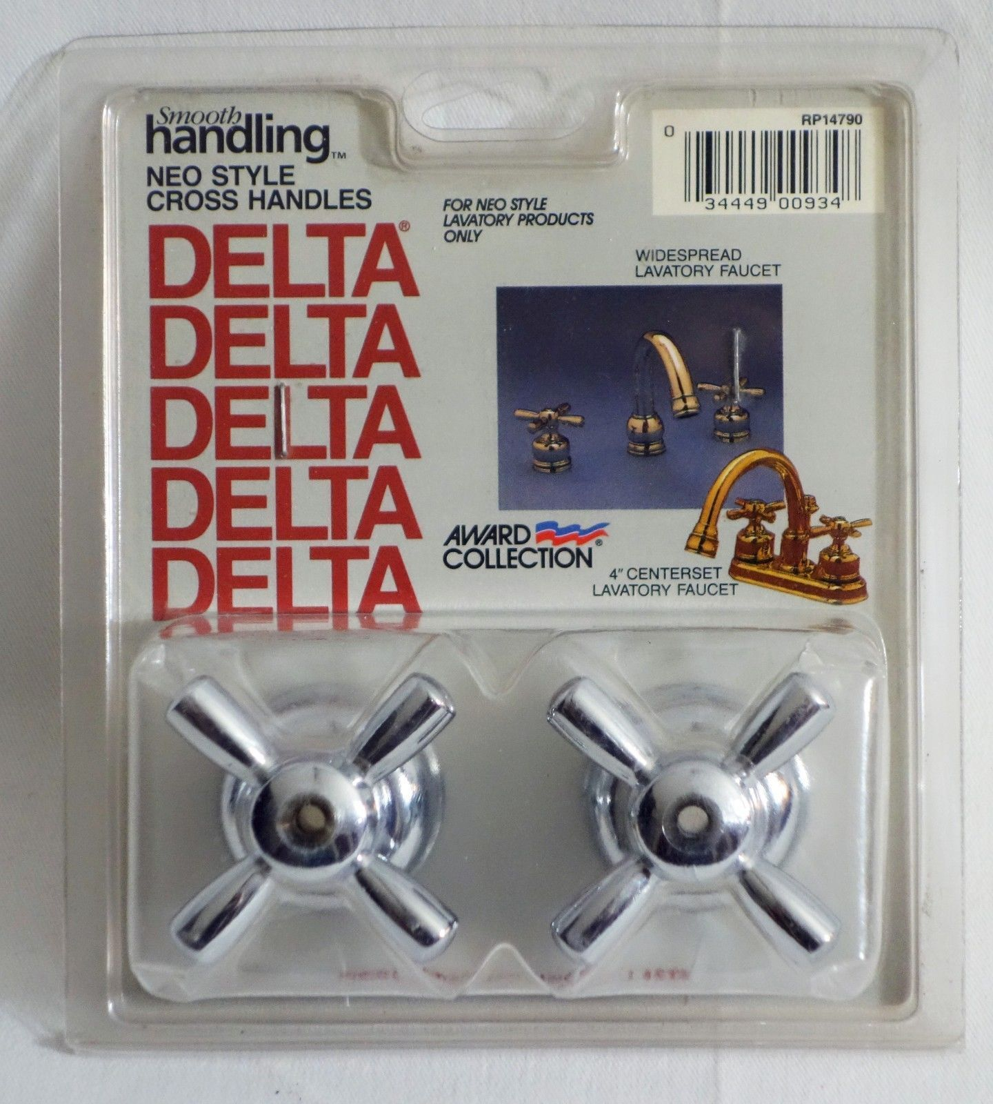 Vintage Delta Smooth Handling Neo Style Cross Handles | Plumbing ...