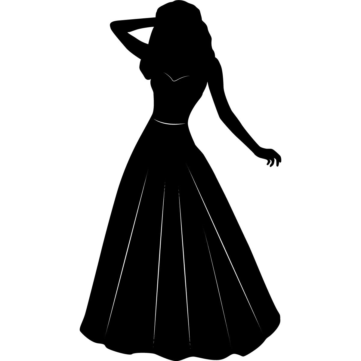 Princess Silhouette Kids Wall Art Stickers Wall Decal Transfers Clipart Best Clipart Best Princess Silhouette Disney Princess Silhouette Silhouette Free