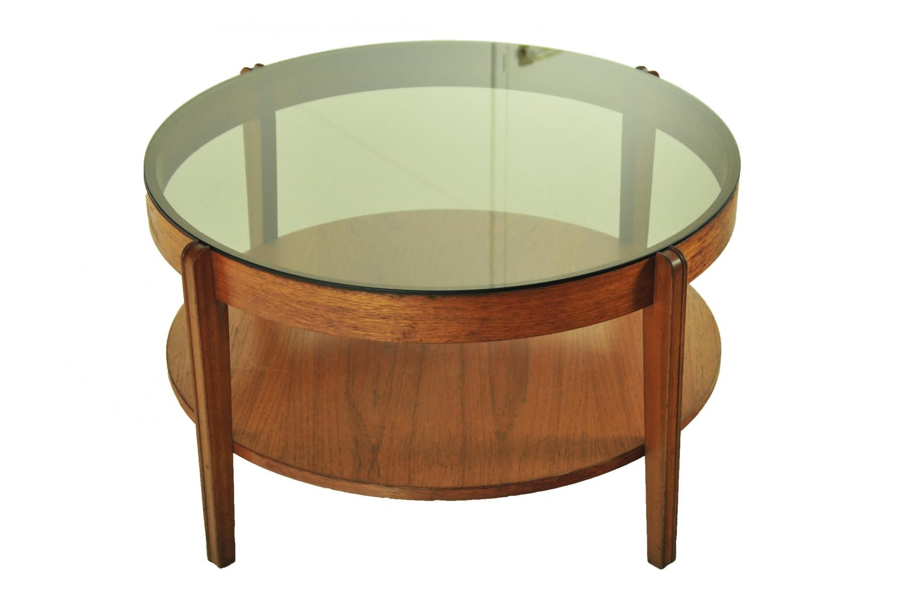 Mid Century Smoked Glass Coffee Table From Remploy 4