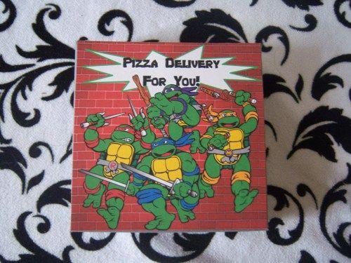 Teenage Mutant Ninja Turtles Pizza Box Invitations | suncitypartycreations - Paper/Books on ArtFire