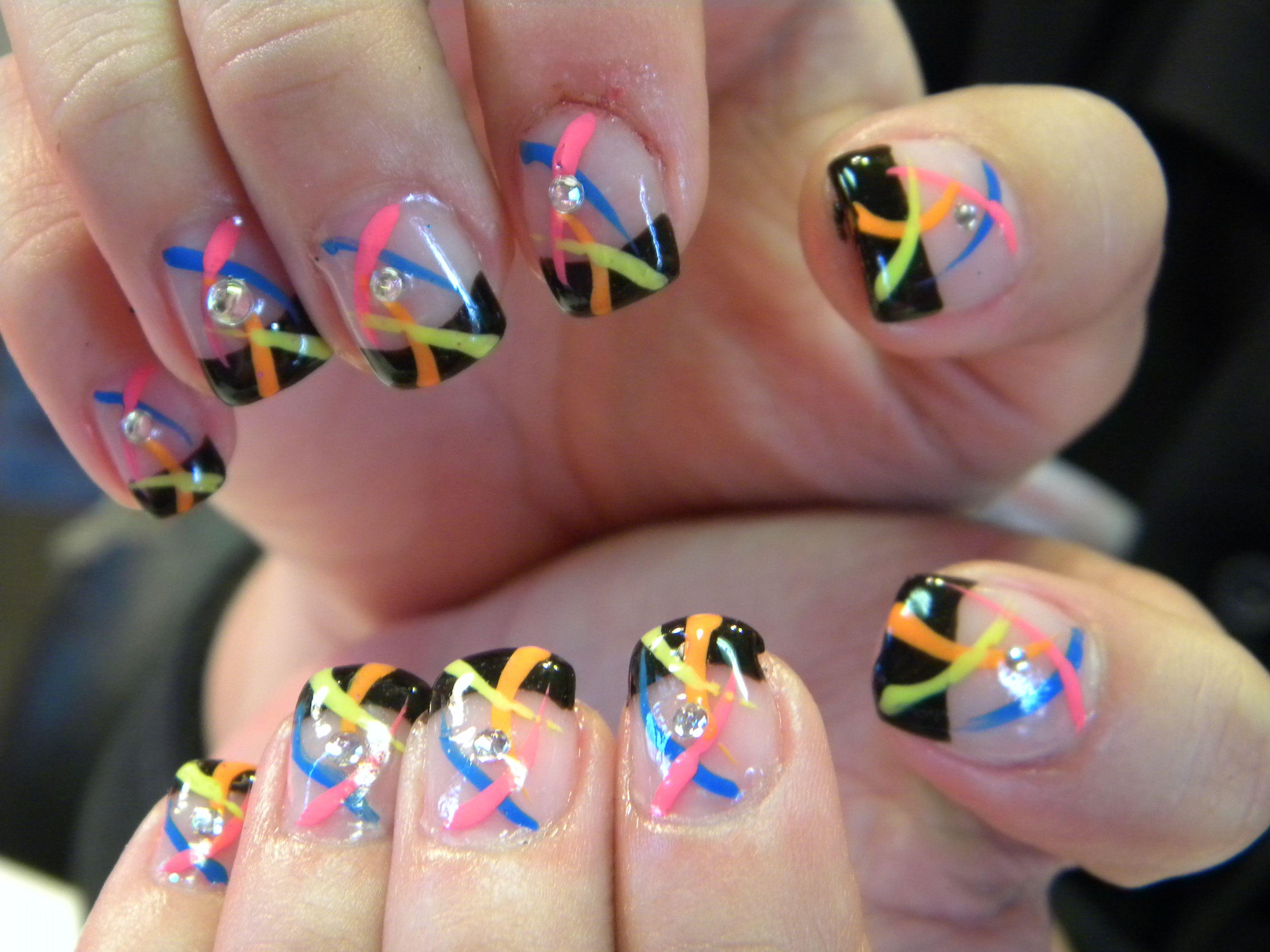 Freehand Nail Art | Nail Art Kit Free Hand Designs | Nail art ...